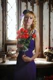 Signora con le rose Immagine Stock Libera da Diritti