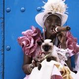 Signora cubana del sigaro Fotografie Stock