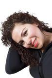 Signora dei capelli ricci Immagine Stock