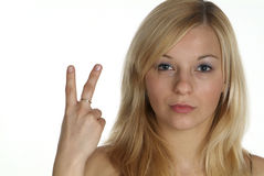 Signora del blonde di Junge | giovane donna bionda Immagini Stock
