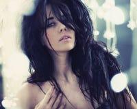 Signora del brunette di bellezza fotografia stock