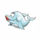 Signora del delfino Fotografia Stock