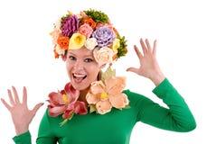 Signora del fiore. Immagine Stock Libera da Diritti