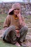Signora dell'agricoltore del Nepal Fotografie Stock Libere da Diritti