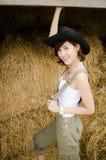 Signora dell'azienda agricola Fotografia Stock