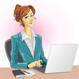 Signora dell'ufficio Immagine Stock Libera da Diritti