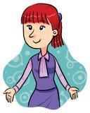Signora dell'ufficio royalty illustrazione gratis