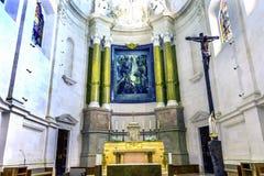 Signora della basilica dell'altare del rosario Fatima Portugal Fotografia Stock Libera da Diritti