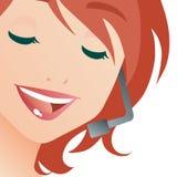 Signora della call center Fotografia Stock