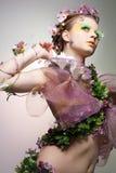 Signora della sorgente. Fotografia Stock