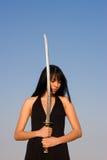 Signora della spada Fotografia Stock
