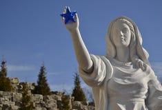 Signora della stella blu Fotografie Stock