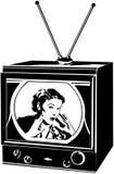 Signora della TV illustrazione vettoriale