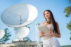 Signora delle Telecomunicazioni Fotografia Stock Libera da Diritti