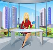 Signora di affari Immagini Stock