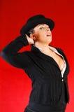 Signora di affari con il cappello. Fotografia Stock Libera da Diritti