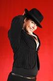 Signora di affari con il cappello. immagine stock