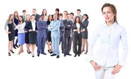 Signora di affari con lo sguardo positivo Immagini Stock Libere da Diritti