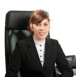 Signora di affari in un ufficio Fotografie Stock