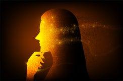 Signora di Digital AI nel vettore royalty illustrazione gratis