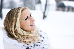 Signora di inverno Fotografie Stock Libere da Diritti