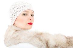 Signora di inverno di modo Fotografia Stock Libera da Diritti