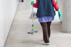 Signora di pulizia Fotografia Stock