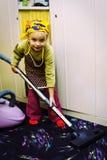 signora di pulizia piccolo Fotografia Stock