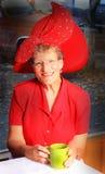 Signora di Red Hat fotografie stock libere da diritti