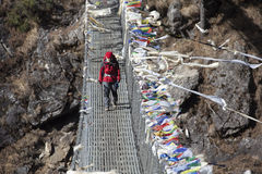 Signora di trekking immagini stock libere da diritti