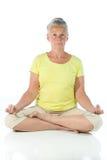 Signora di yoga fotografia stock libera da diritti