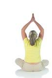 Signora di yoga fotografie stock libere da diritti