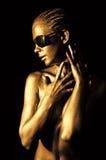 Signora dorata Fotografia Stock Libera da Diritti
