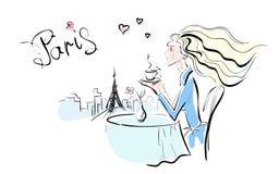 Signora e Parigi Fotografia Stock Libera da Diritti