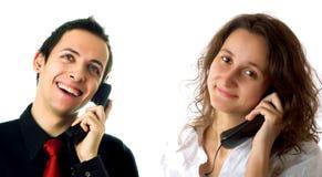 Signora e tirante rappresentativi di servizio di assistenza al cliente Immagini Stock