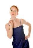 Signora elegante con le perle Fotografia Stock Libera da Diritti