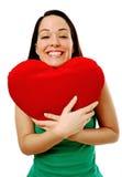 Signora emozionante nell'amore Fotografie Stock