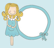 Signora Expecting Boy Frame Fotografia Stock