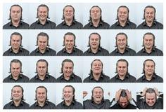 Signora facciale di Expressions Immagini Stock