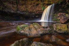 Signora Falls di Sgwd Gwladus AKA Immagine Stock Libera da Diritti