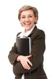 Signora felice di affari Fotografie Stock