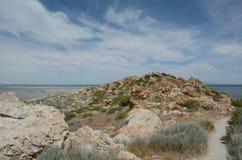 Signora Finger Point Trail - parco di stato dell'isola dell'antilope Immagini Stock Libere da Diritti