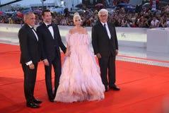Signora Gaga, Alberto Barbera, Paolo Baratta, Bradley Cooper immagini stock libere da diritti