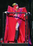 Signora Gaga esegue di concerto immagine stock