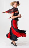 Signora giusta ballante Fotografia Stock