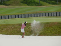 Signora Golfer Fotografia Stock