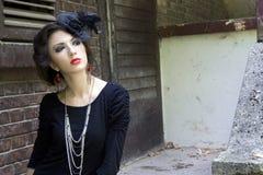 Signora gotica fotografia stock