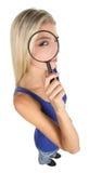 Signora graziosa Concept dell'agente investigativo Immagini Stock Libere da Diritti