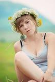 Signora graziosa dell'azienda agricola Fotografie Stock