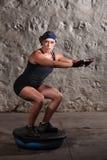 Signora graziosa Doing Balancing Training Immagine Stock Libera da Diritti